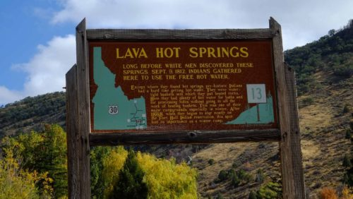 Lava Hot Springs sign