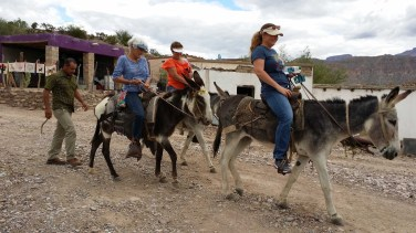 Riding Burros in Boquillas, Mexico