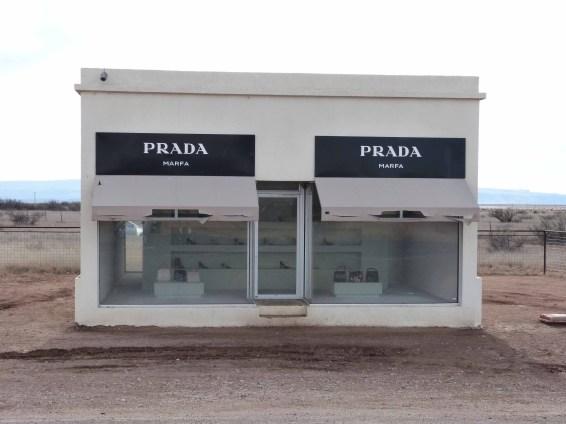 The Prada Store on the road to Malfa