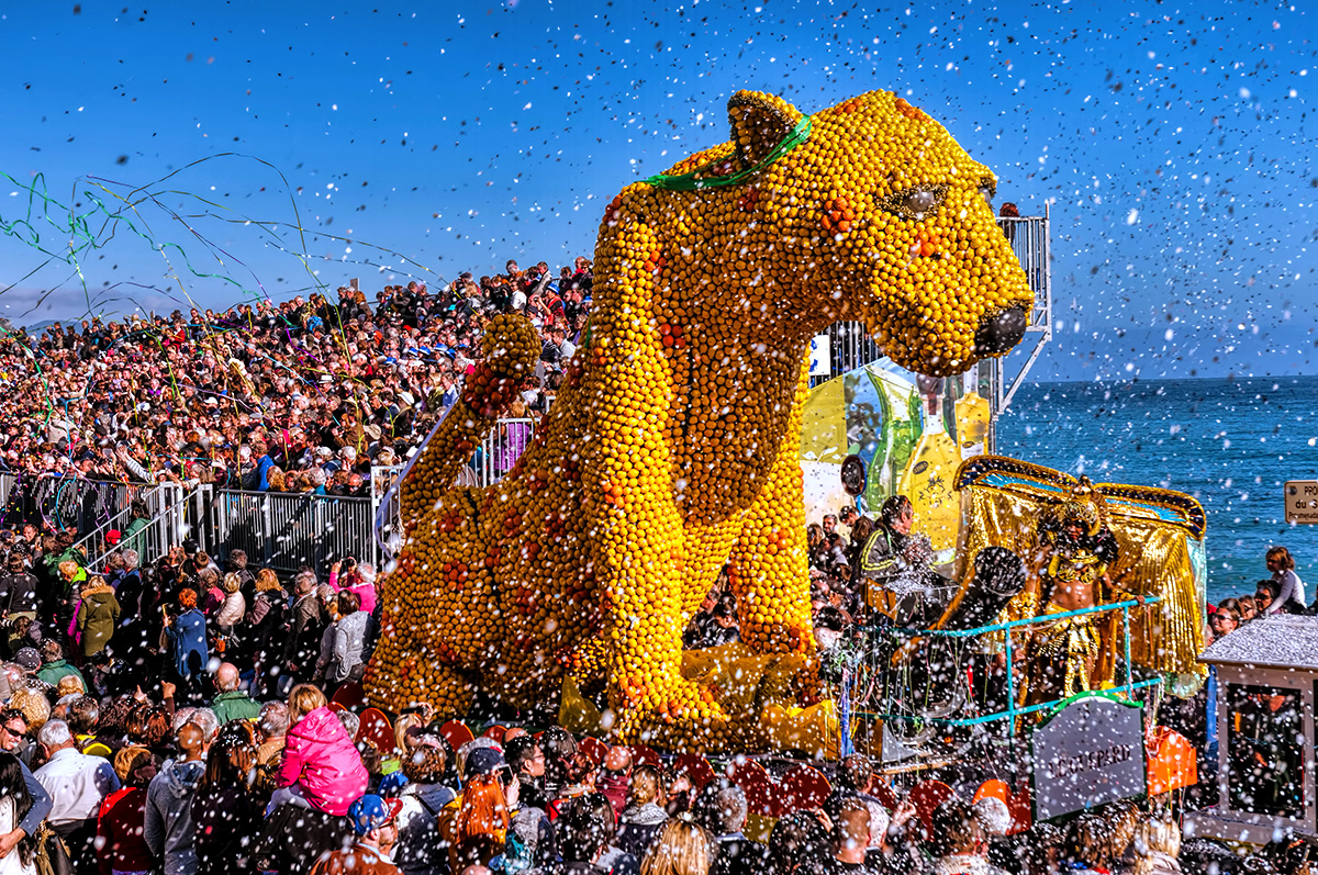 A Lemon Festival on the French Riviera
