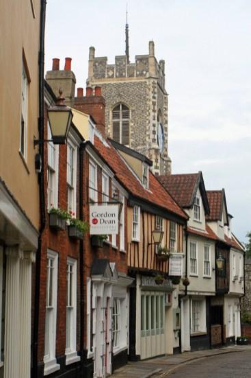 One of Norwich's narrow, winding street. Photo by Melanie Votaw