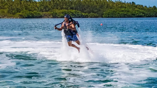 Jetboarding man in the Florida Keys
