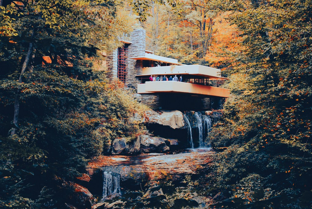 Fallingwater, designed by famed architect Frank Lloyd Wright is just the second UNESCO World Heritage site in Pennsylvania, joining the Liberty Bell in Philadelphia.