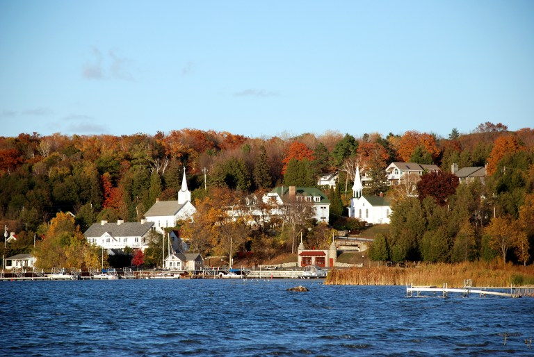 The charming town of Ephraim, Wisconsin in Door County where Jack Frost's handiwork can be seen from the water.