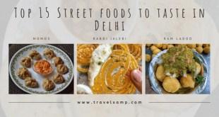 Street foods to taste in Delhi