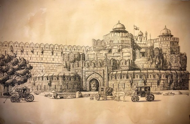 Red Fort Old Picture