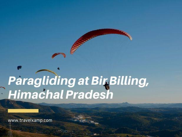 Paragliding at Bir Billing, Himachal Pradesh
