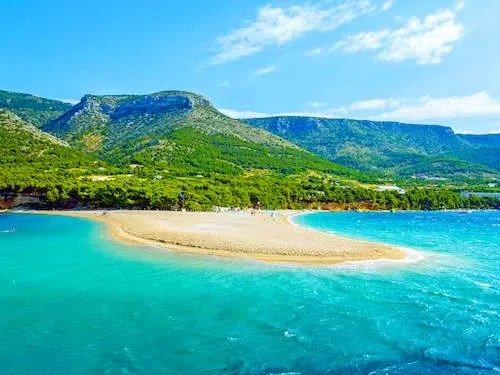 Golden Horn Beach Brac Island Croatia