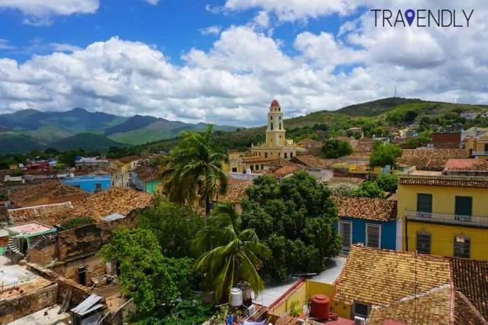 Aerial views of colonial Trinidad Cuba