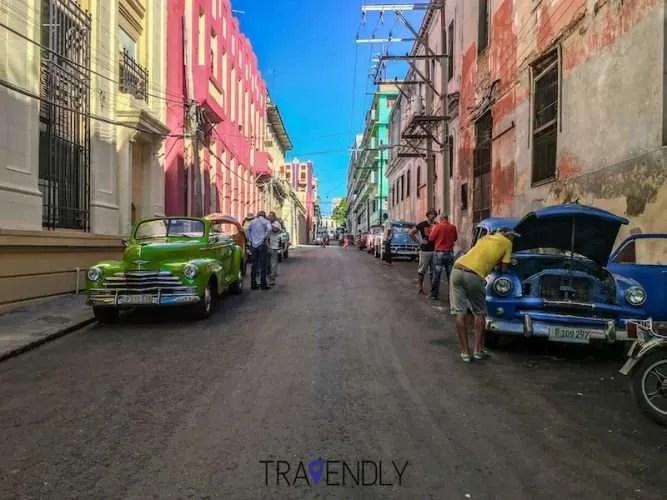 Daily life in Havana Cuba