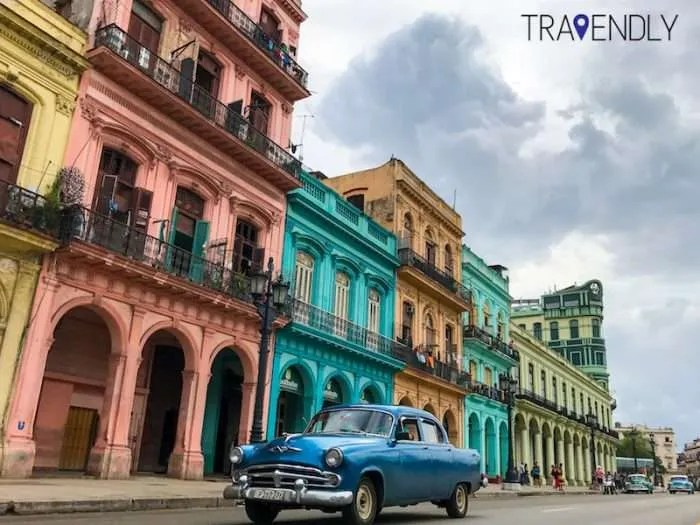 Colorful buildings of Central Havana