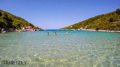 Hidden beach on the island of Vis, Croatia