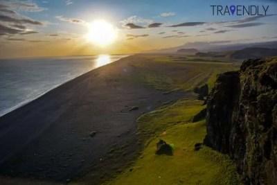 Sunset from Dyrholaey Iceland