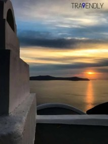 Sunset views in Fira, Santorini