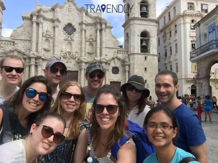 Selfie by the Cathedral of Old Havana Cuba