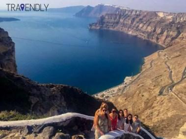 Winding stairs of Imerovigli Santorini
