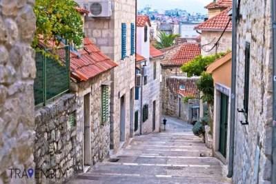 Old stone street of Split, Croatia