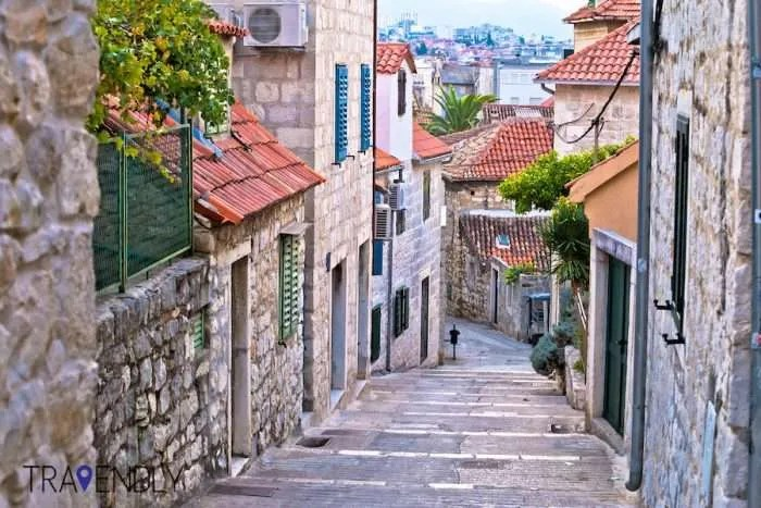 Old stone street of Split, Croatia