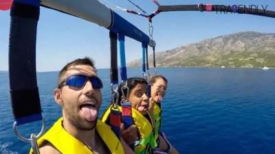 Parasailing on Brac island in Croatia