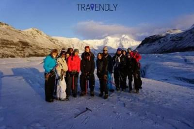 Group shot in Skaftafell glacier, Iceland