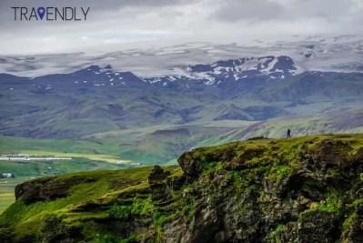 View of Solheimajokull glacier Iceland