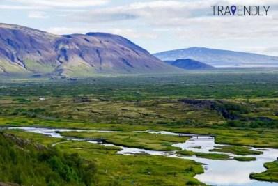 Landscape in Thingvellir national park Iceland