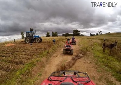 ATVing outside Cusco in the countryside