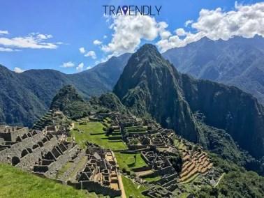 Machu Picchu complex in the Sacred Valley region of Peru