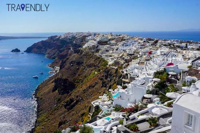 Picturesque town of Oia on Santorini Island