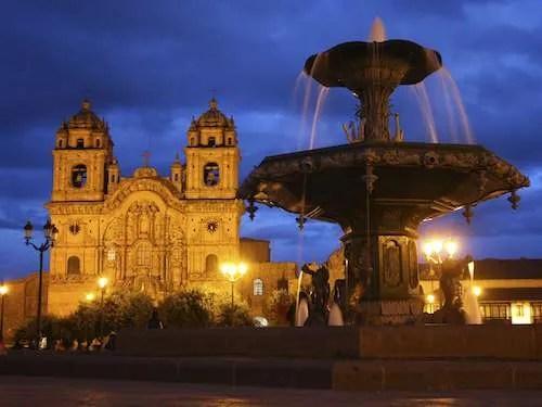 Plaza de Armas Cathedral in Cusco Peru