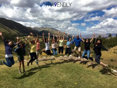 Getting silly outside of Cusco
