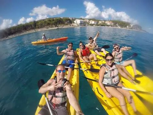Kayaking in Supetar on Brac Island Croatia