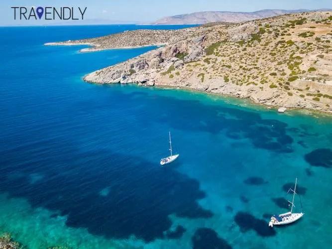 Sailing along the beautiful waters of Naxos