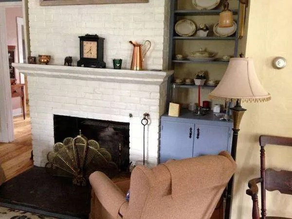 Fireplace of our Vermont home