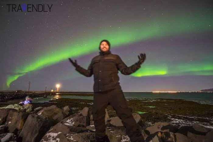 Basking in the glory of the Northern Lights