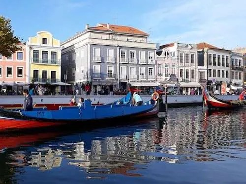 Canals in Aveiro Portugal