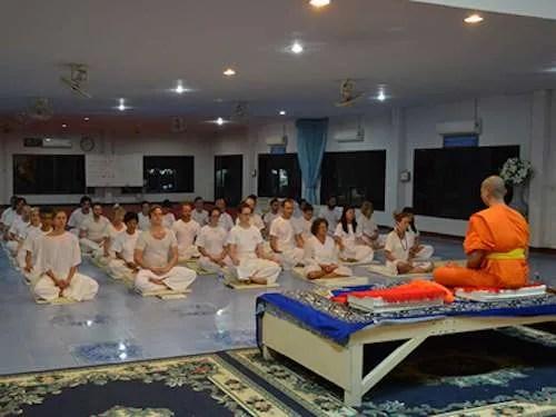 Meditation Session Chiang Mai Monk University