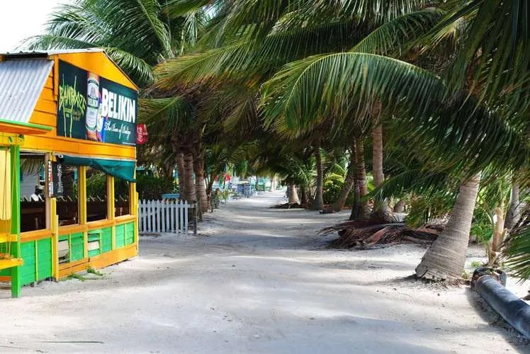 Boardwalk on Caye Caulker Belize