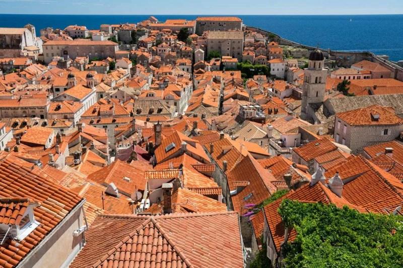 Rooftops in Old Town Dubrovnik Croatia