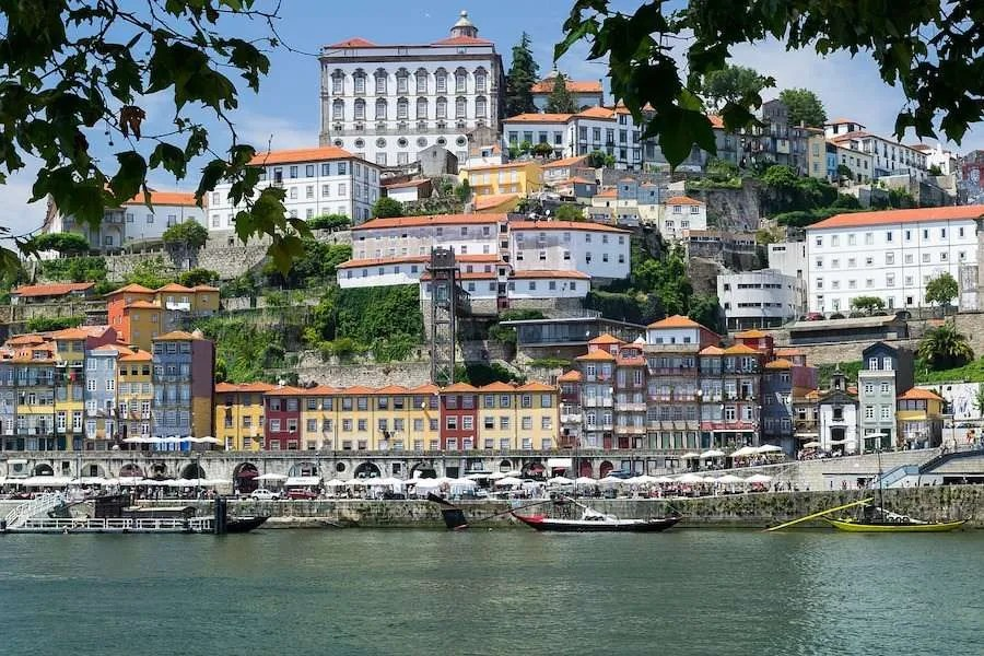 Houses along the harbor in Porto Portugal