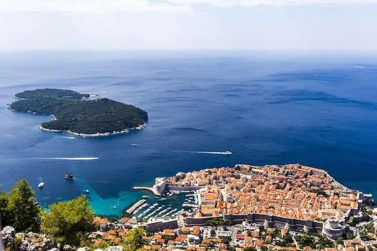 Dubrovnik Croatia from Mt Srd