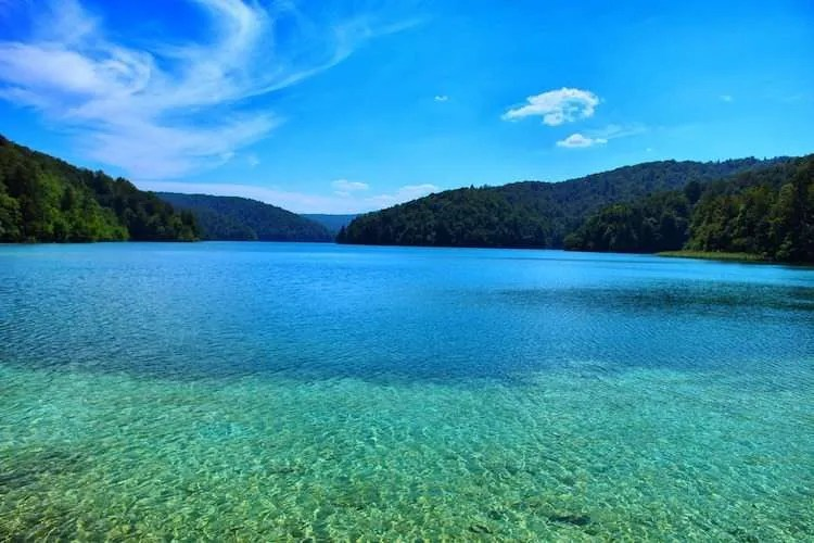 Plitvice lakes beautiful water