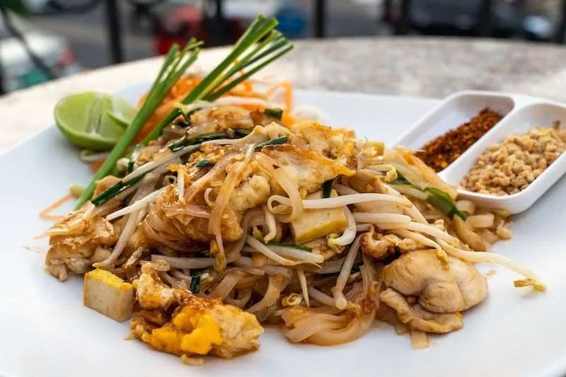 Delicious pad Thai food
