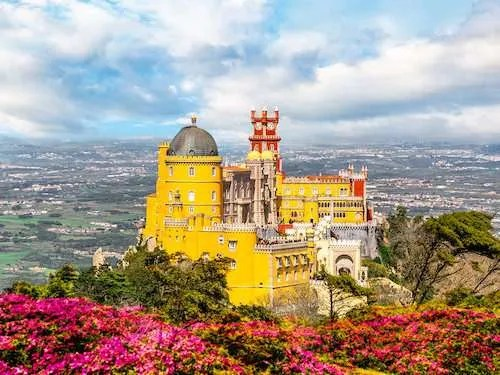 National palace of Pena Sintra Portugal itinerary