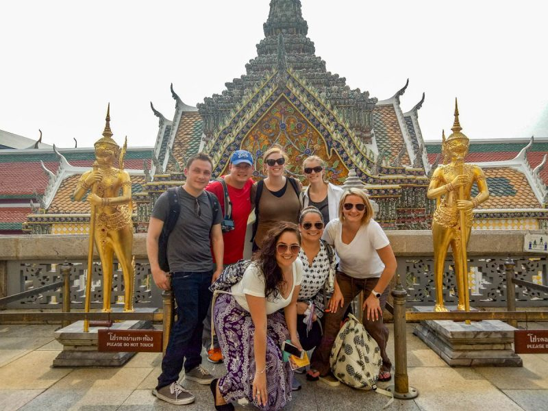 Hanging out in the Grand Palace in Bangkok Thailand