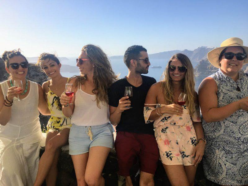 Wine and views for the win in Imerovigli Santorini Greece