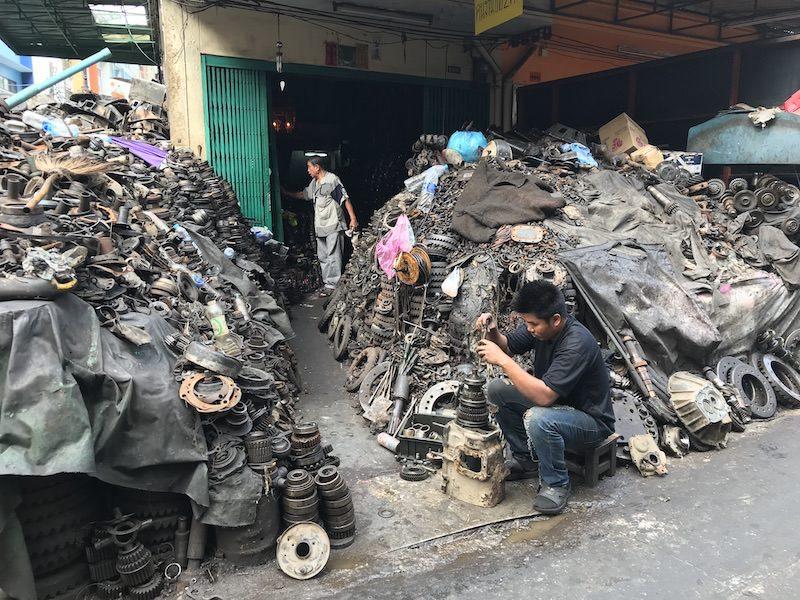 Mechanics section in Bangkok