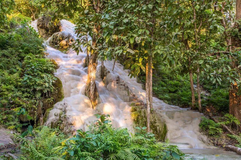 Namtok Bua Tong waterfall outside Chiang Mai Thailand
