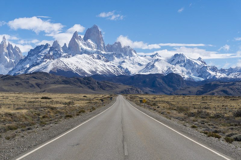 View Of Road To Monte Fitz Roy In Argentina