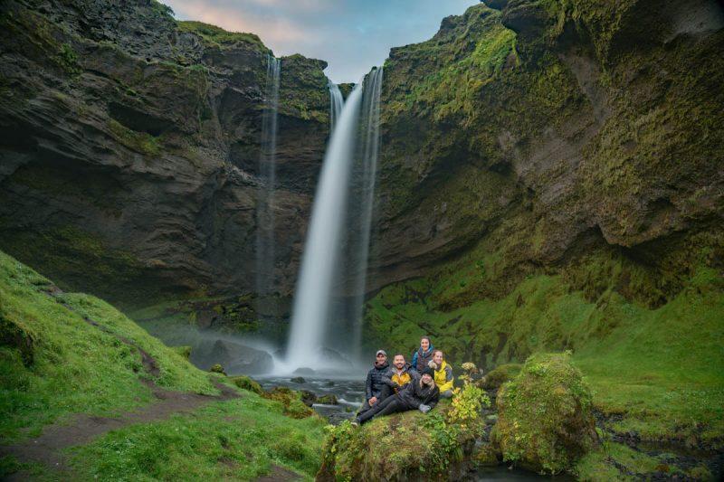 Secret waterfall in Iceland